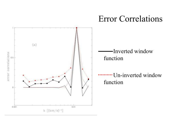 Error Correlations