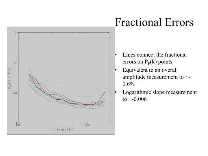 Fractional Errors