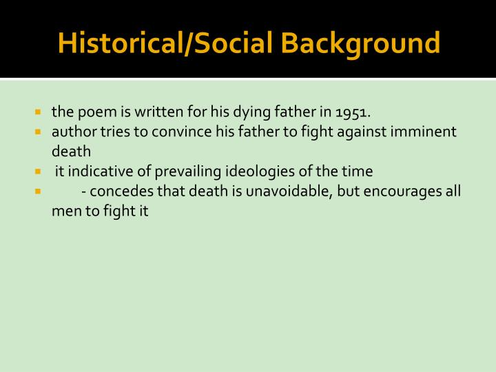 Historical social background