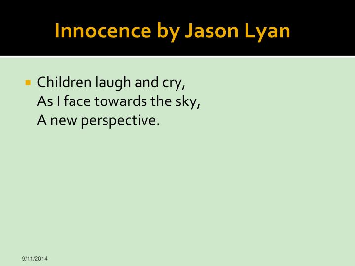 Innocence by Jason Lyan