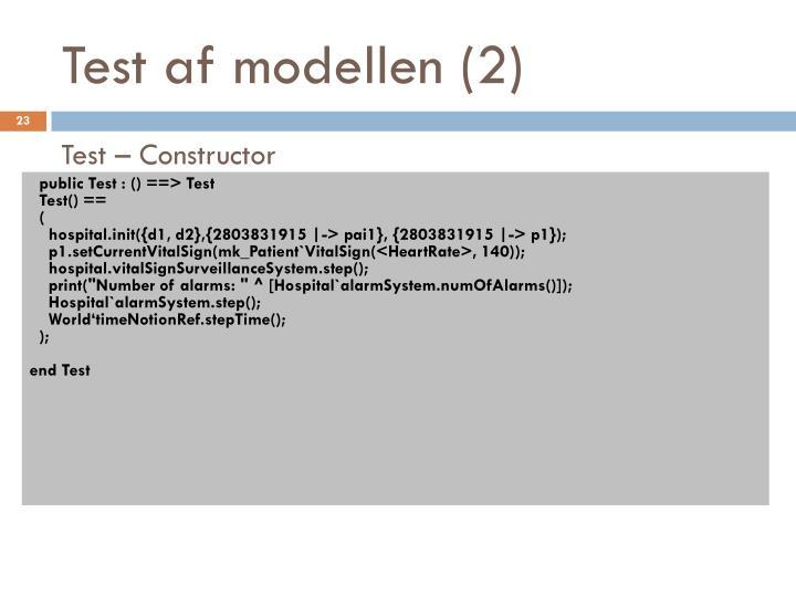 Test af modellen (2)