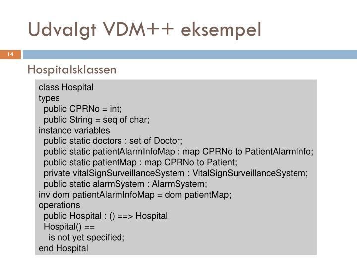 Udvalgt VDM++ eksempel