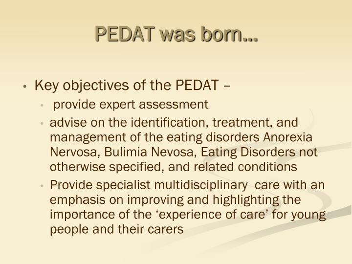 PEDAT was born…