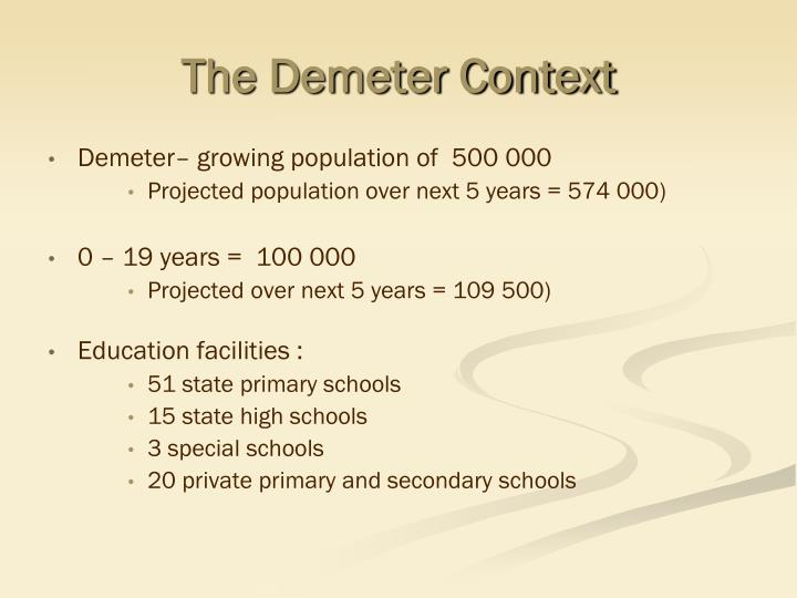 The demeter context