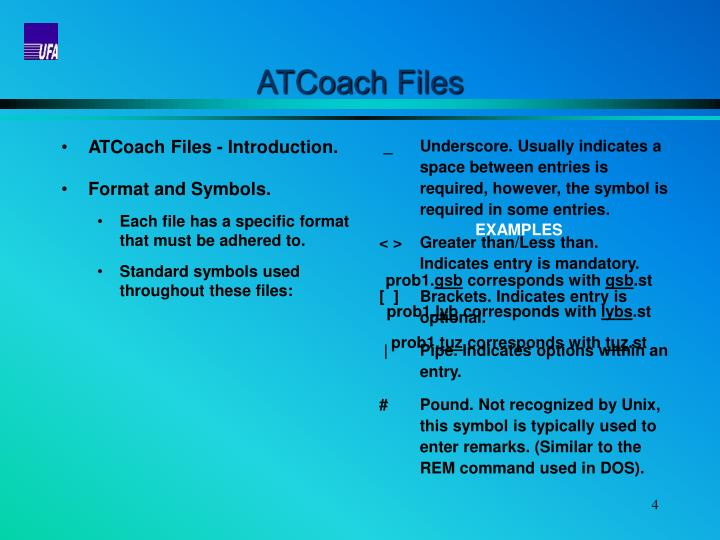 ATCoach Files
