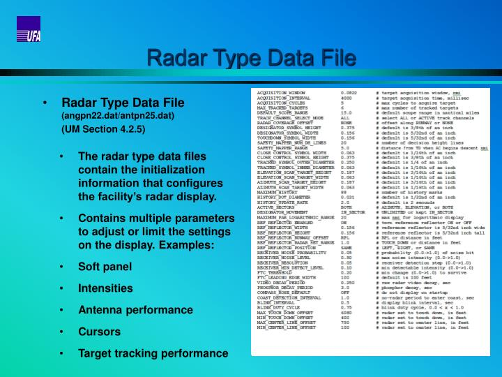 Radar Type Data File