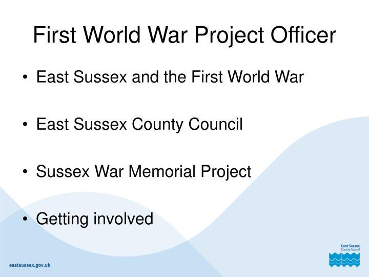 First World War Project Officer
