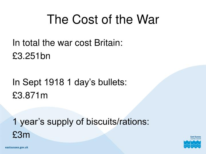 The Cost of the War