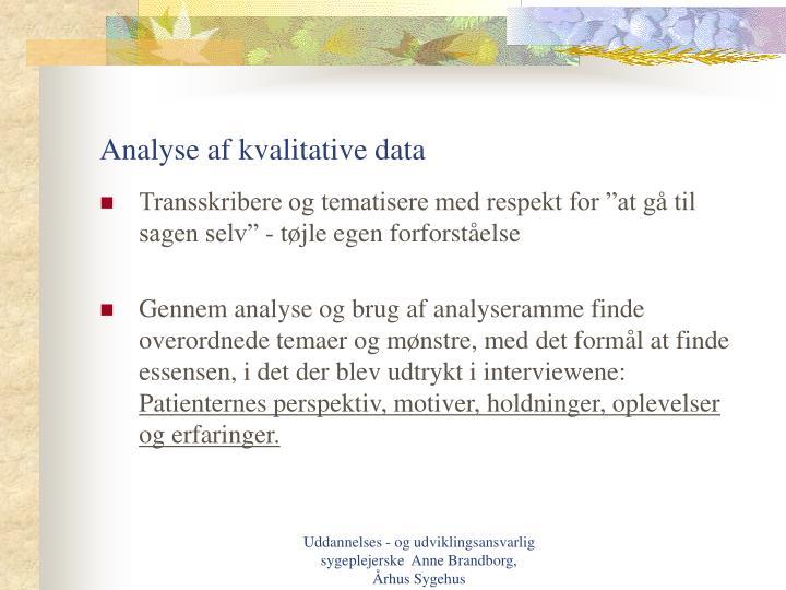 Analyse af kvalitative data