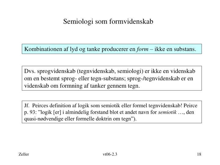 Semiologi som formvidenskab