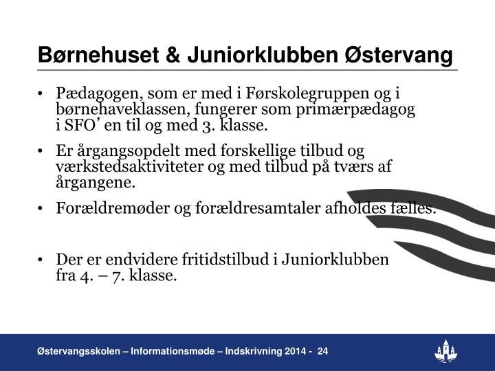 Børnehuset & Juniorklubben Østervang