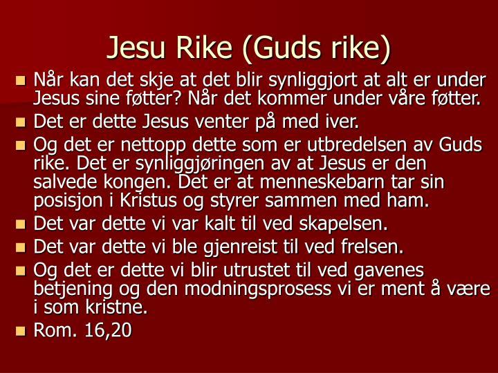 Jesu Rike (Guds rike)