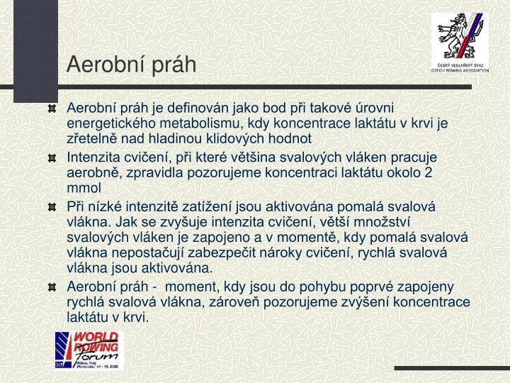 Aerobní práh