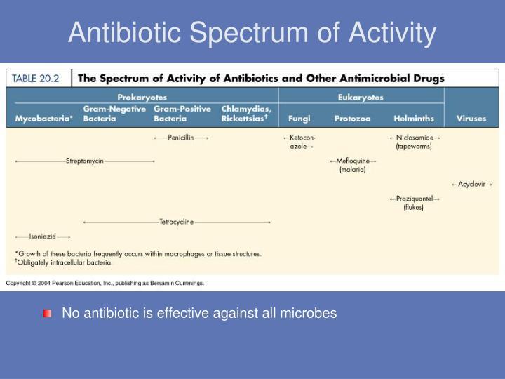 Antibiotic Spectrum of Activity
