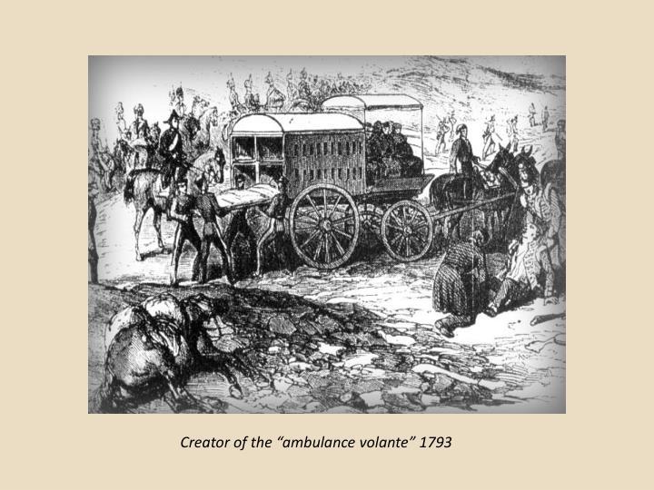 "Creator of the ""ambulance"