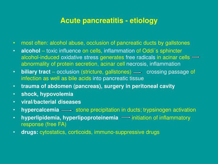 Acute pancreatitis - etiology