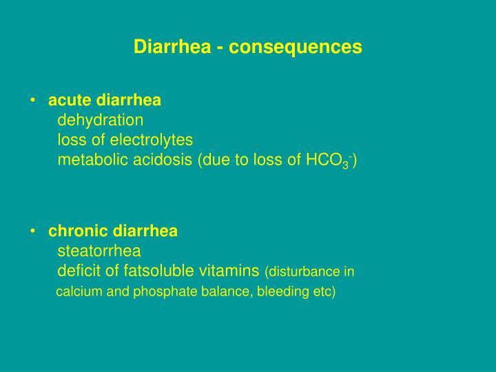 Diarrhea - consequences