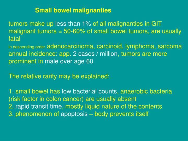 Small bowel malignanties