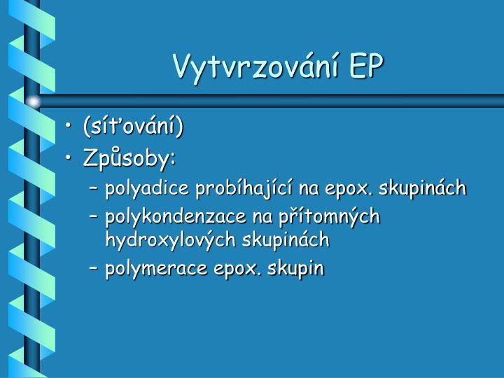 Vytvrzování EP