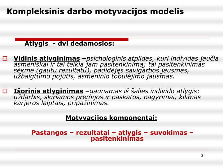 Kompleksinis darbo motyvacijos modelis