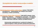 kompleksinis darbo motyvacijos modelis2