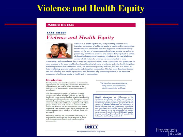 Violence and Health Equity