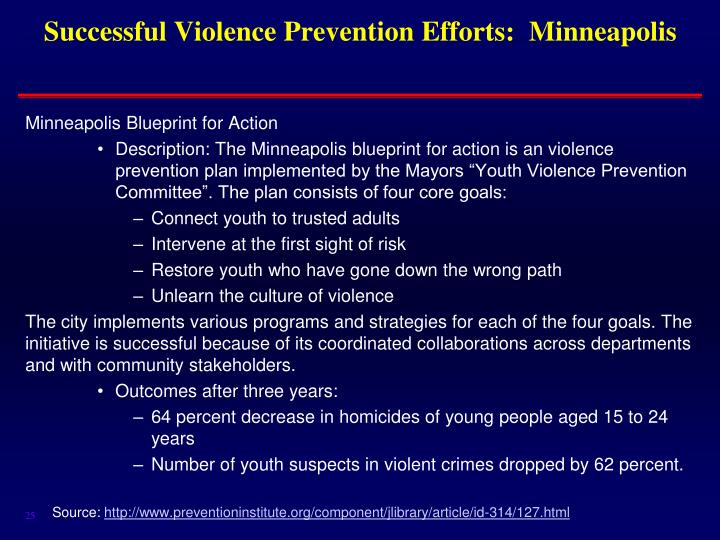 Successful Violence Prevention Efforts:  Minneapolis