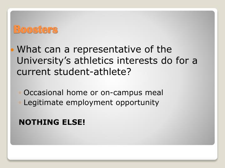 What can a representative of the University's athletics interests do for a current student-athlete?