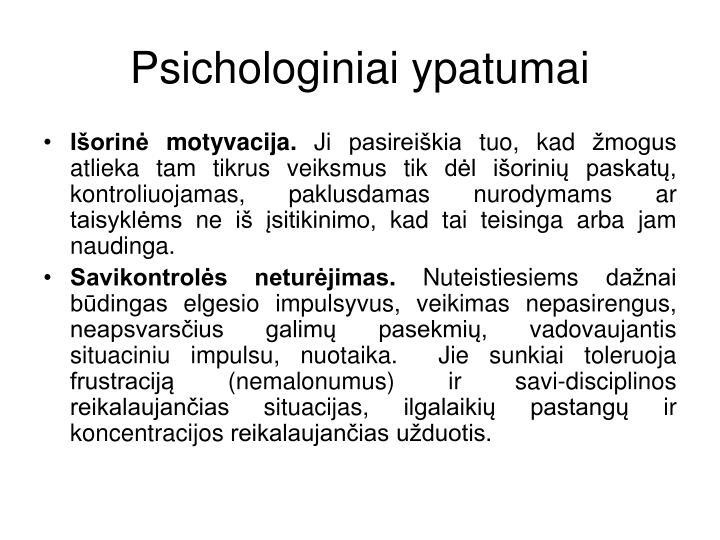 Psichologiniai ypatumai