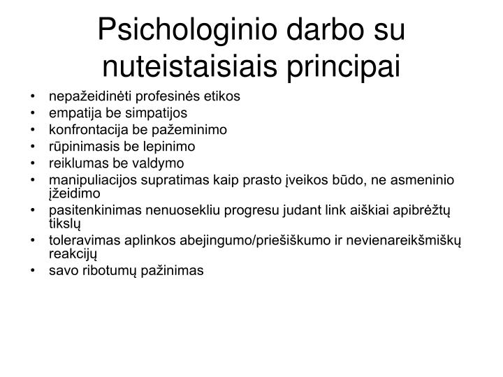 Psichologinio darbo