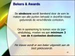 bekers awards
