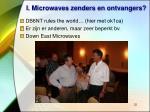 i microwaves zenders en ontvangers