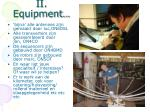 ii equipment