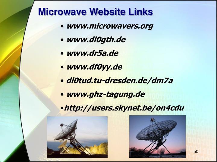 Microwave Website Links