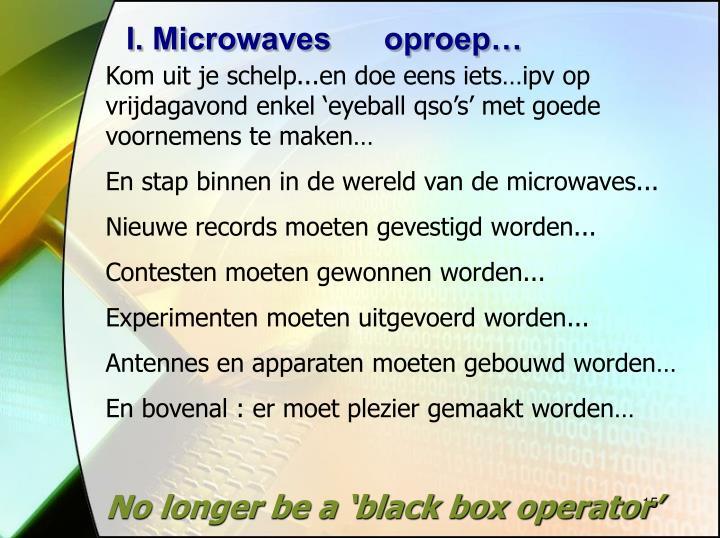 I. Microwaves      oproep…