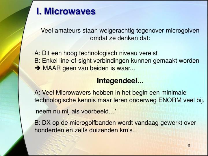 I. Microwaves