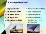 v contest data 2007