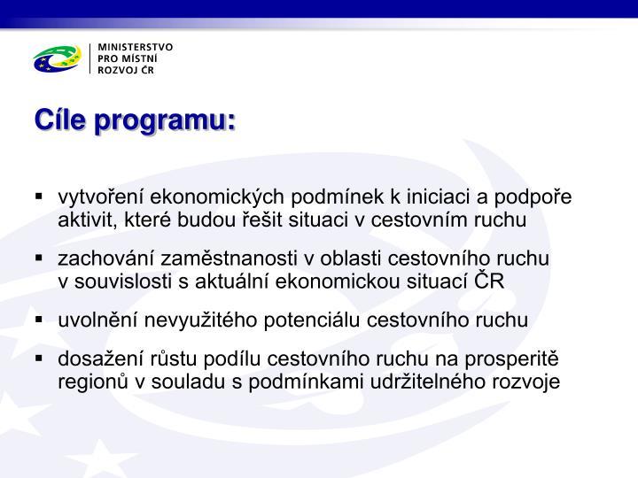 Cíle programu: