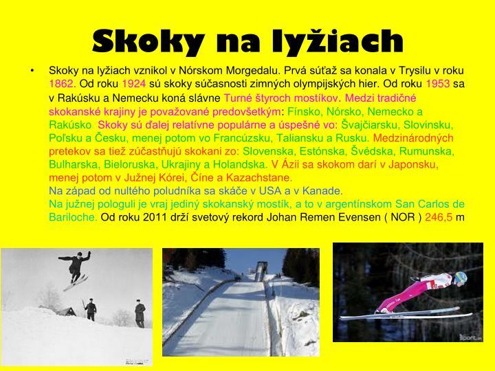 Skoky na lyžiach