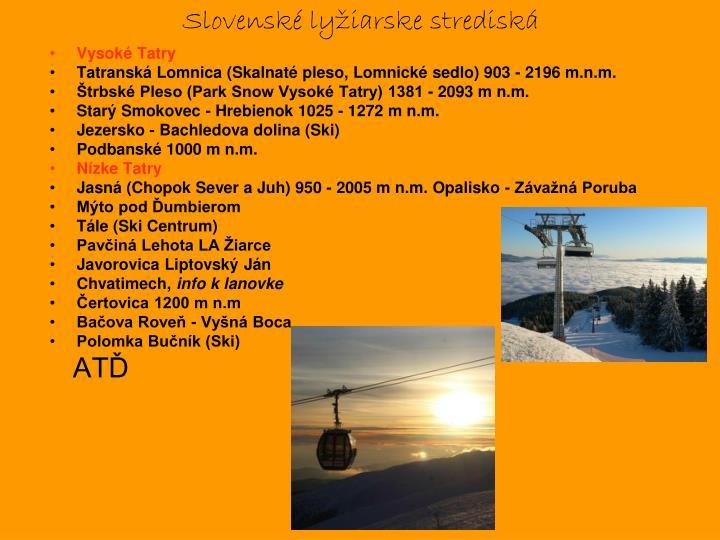 Slovenské lyžiarske strediská