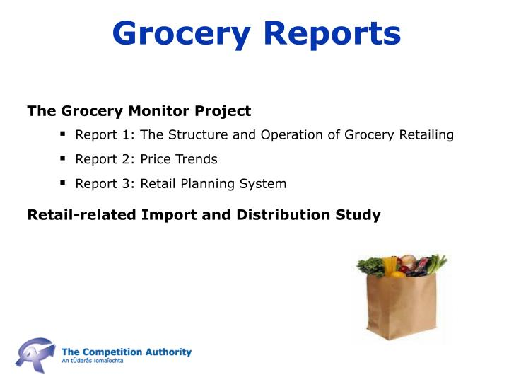 Grocery Reports