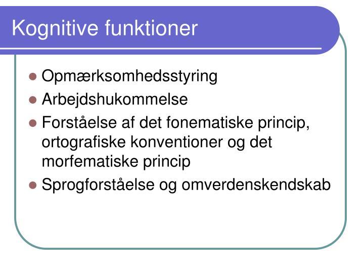 Kognitive funktioner