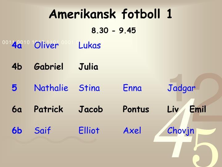 Amerikansk fotboll 1