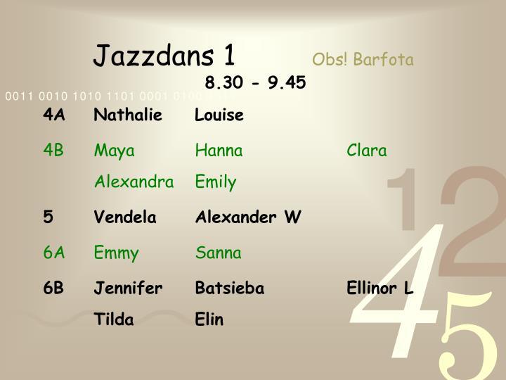Jazzdans 1