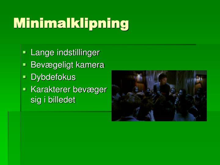 Minimalklipning