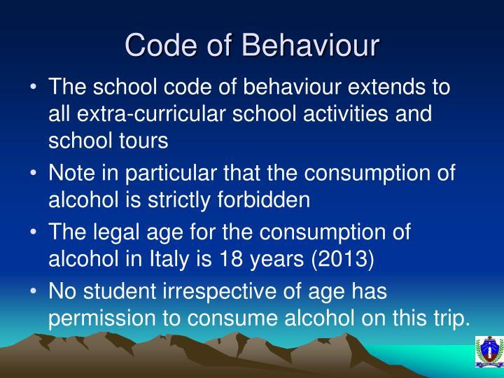 Code of Behaviour