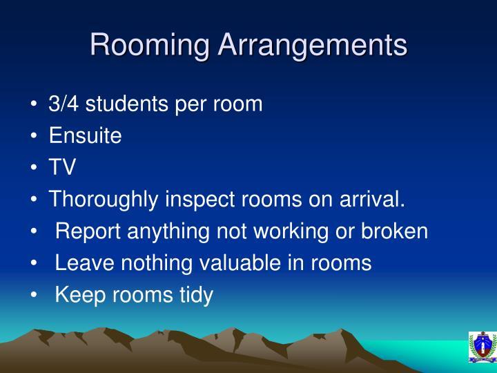 Rooming Arrangements