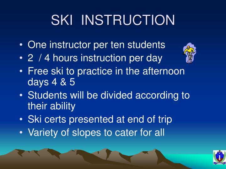 SKI  INSTRUCTION