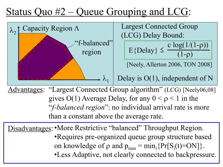Status Quo #2 – Queue Grouping and LCG