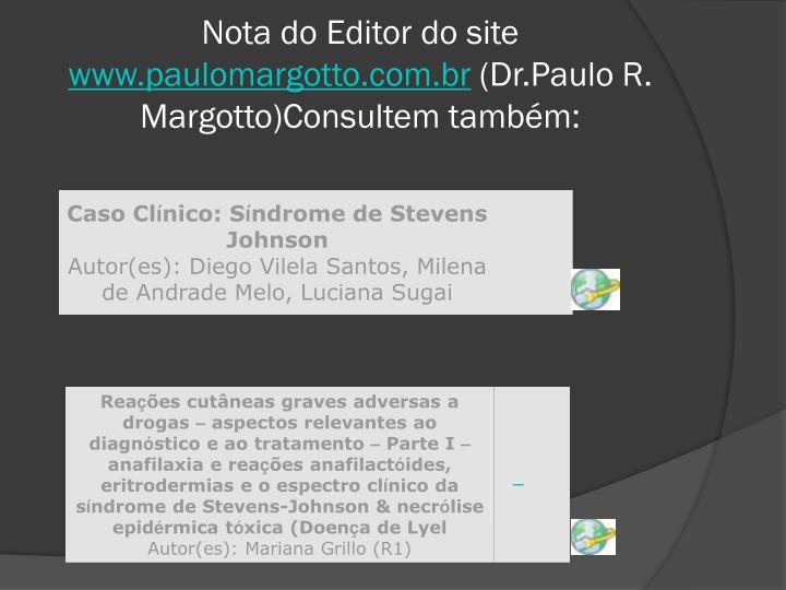 Nota do Editor do site